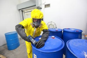 Professionals using our chemical spill absorbents